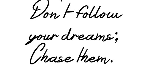 Image result for chase your dreams