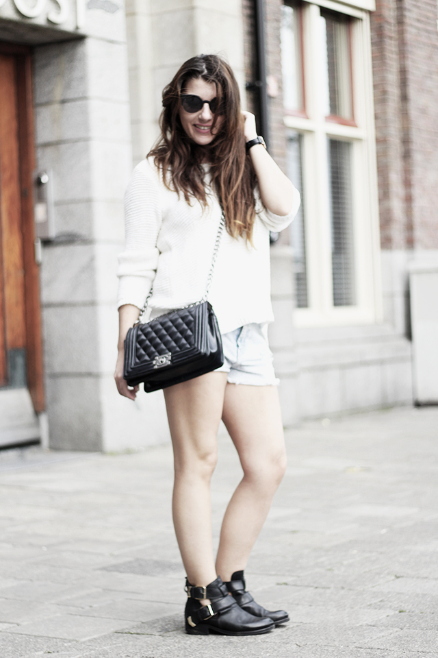 Sweater HM - Shorts Forever21 - Cut-out boots12