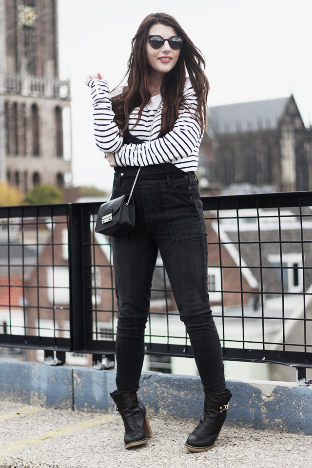Denim Dungarees H&M - Duo Boots - Furla Bag - DomTower14