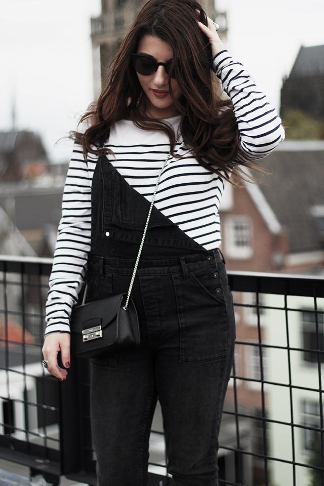 Denim Dungarees H&M - Duo Boots - Furla Bag - DomTower15