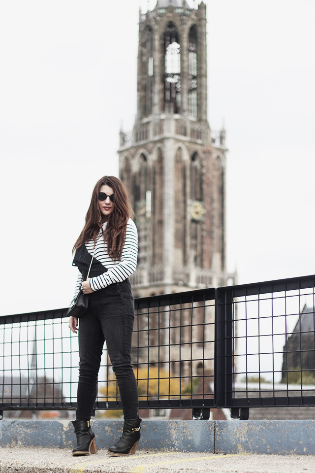 Denim Dungarees H&M - Duo Boots - Furla Bag - DomTower2