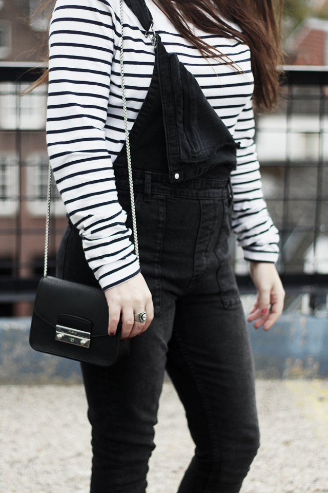 Denim Dungarees H&M - Duo Boots - Furla Bag - DomTower7