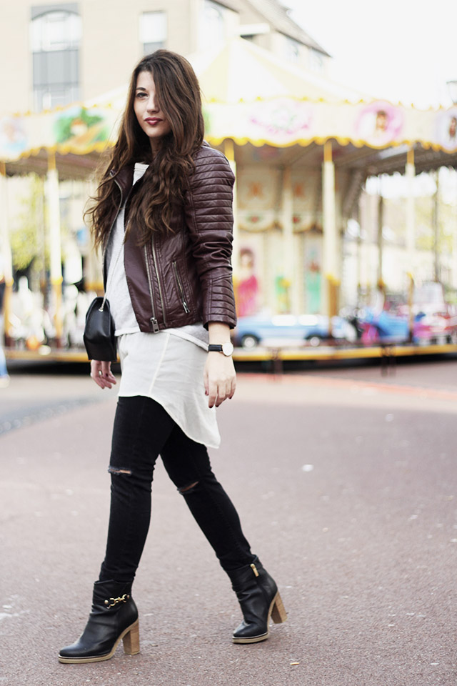 Leather jacket - sevensisters - the sting - DUO boots1