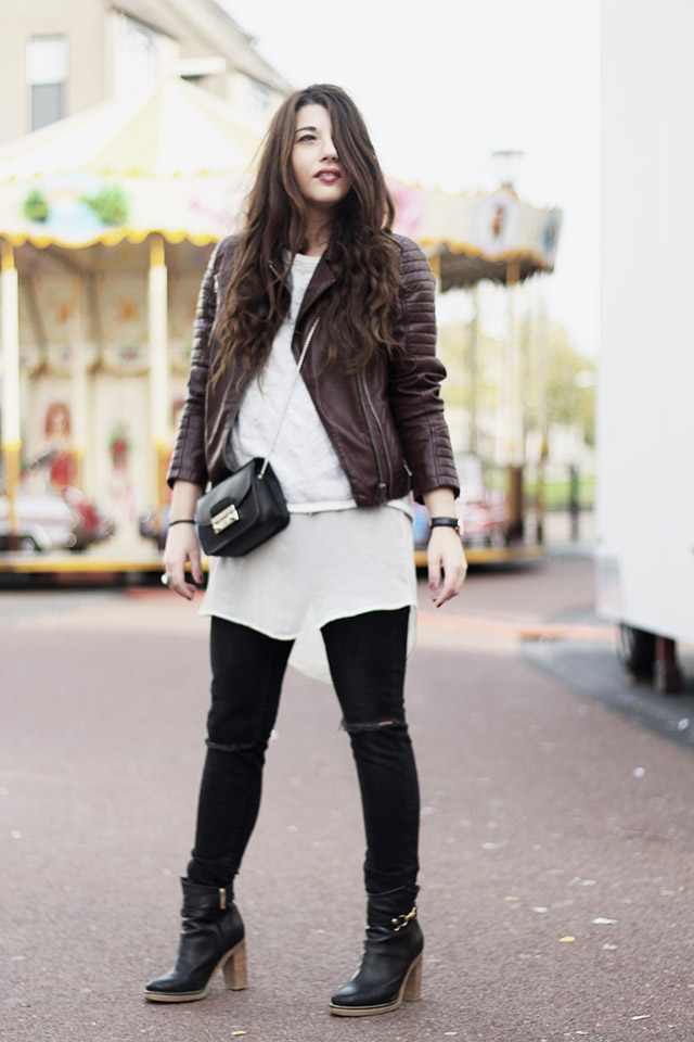 Leather jacket - sevensisters - the sting - DUO boots13