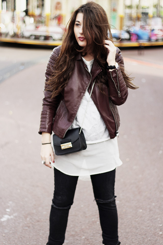Leather jacket - sevensisters - the sting - DUO boots2