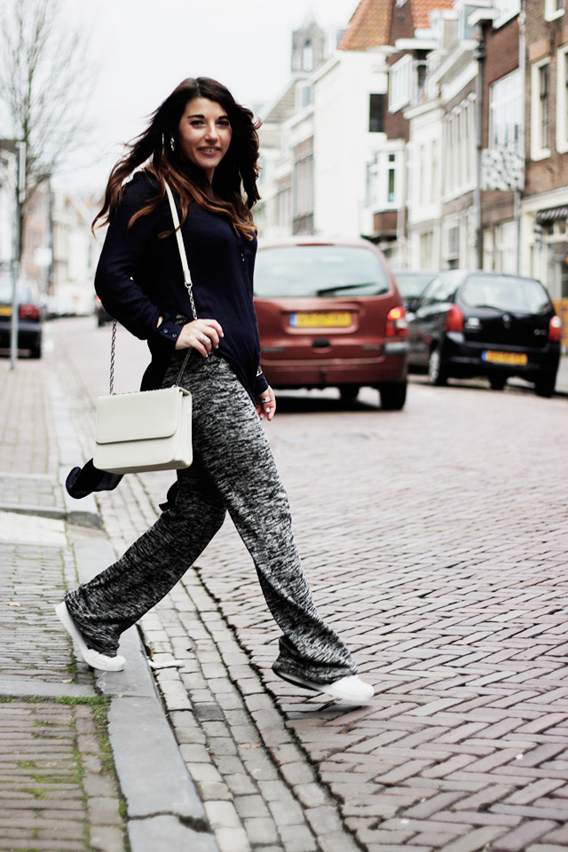 Only blouse - flare pants - Denise roobol bag - Kapten and son watch - adidas 1