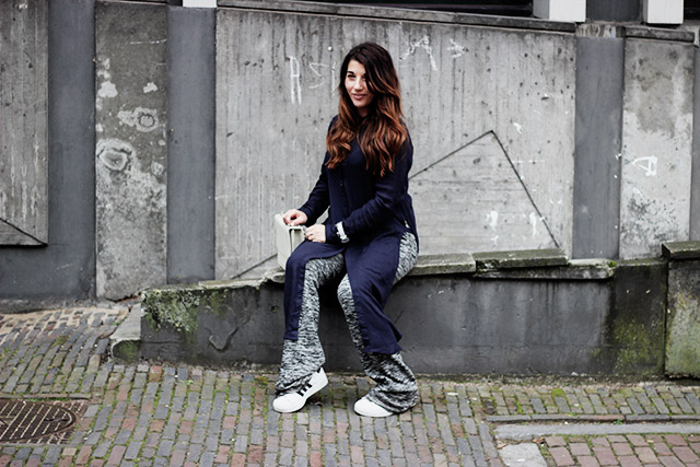Only blouse - flare pants - Denise roobol bag - Kapten and son watch - adidas 16