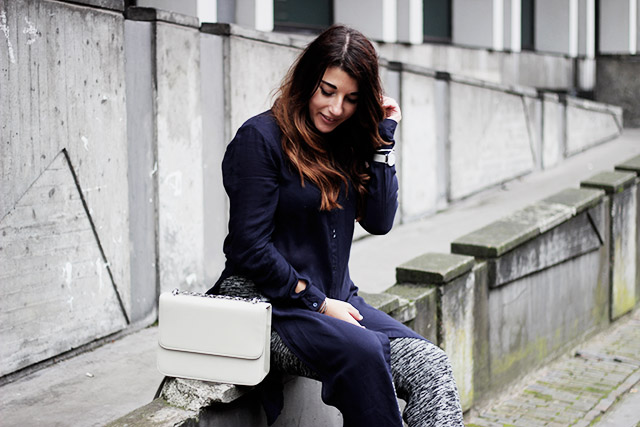 Only blouse - flare pants - Denise roobol bag - Kapten and son watch - adidas 4