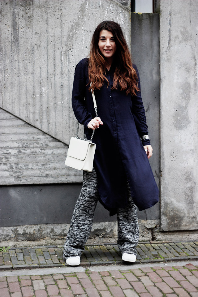 Only blouse - flare pants - Denise roobol bag - Kapten and son watch - adidas 5