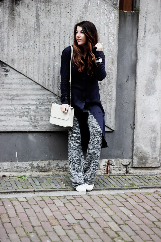 Only blouse - flare pants - Denise roobol bag - Kapten and son watch - adidas 6
