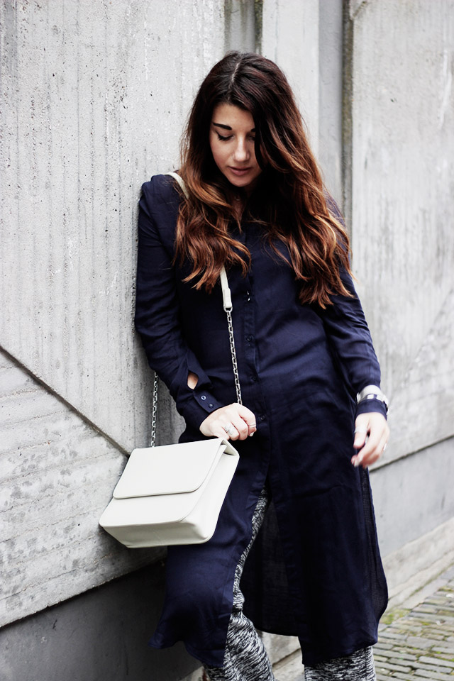 Only blouse - flare pants - Denise roobol bag - Kapten and son watch - adidas 8