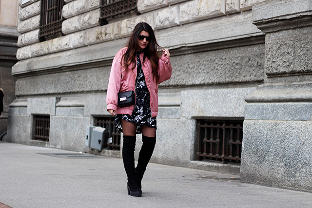pink-bomber-jacket-mango-stormmarie-dress-furla-bag-overknee-boots-sacha-shoes-milano-wendy-van-soest-14