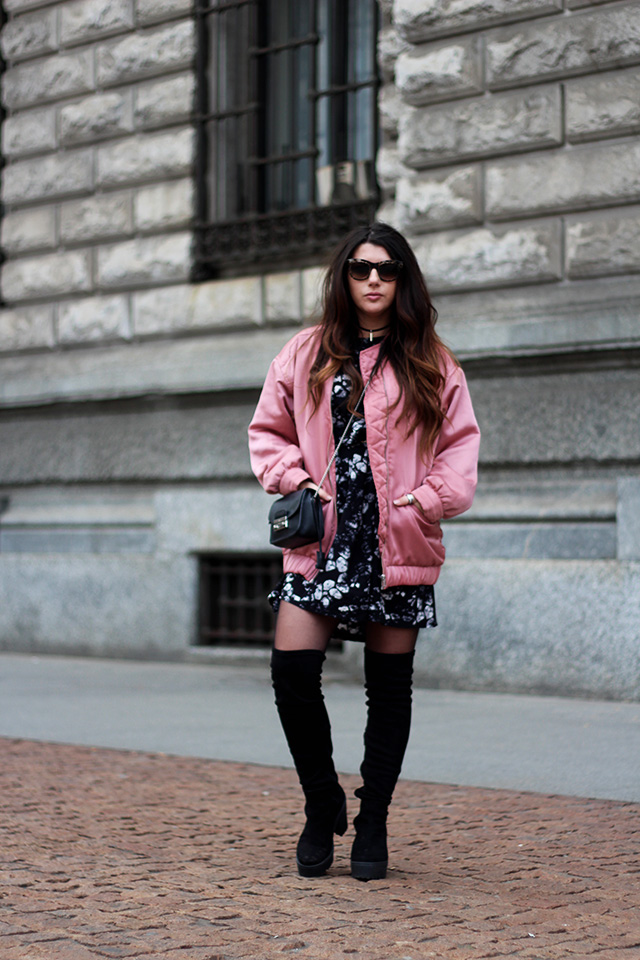 pink-bomber-jacket-mango-stormmarie-dress-furla-bag-overknee-boots-sacha-shoes-milano-wendy-van-soest-3