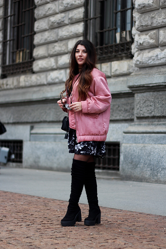 pink-bomber-jacket-mango-stormmarie-dress-furla-bag-overknee-boots-sacha-shoes-milano-wendy-van-soest-4