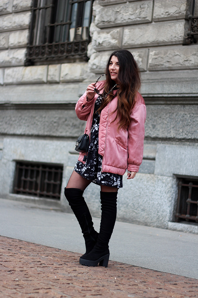 pink-bomber-jacket-mango-stormmarie-dress-furla-bag-overknee-boots-sacha-shoes-milano-wendy-van-soest-5