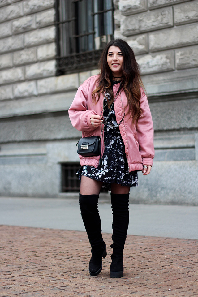 pink-bomber-jacket-mango-stormmarie-dress-furla-bag-overknee-boots-sacha-shoes-milano-wendy-van-soest-6